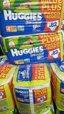 Huggies Nappies Diapers Baby Change Super Dry Baby Brief Size 4 Baby Care 164Pk