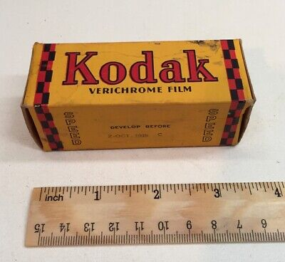 Extremely Rare Vintage Eastman Kodak Verichrome 130 Roll Film from 1939