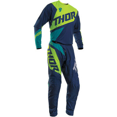 Thor 2020 S20 Sector Blade Race Kit Suit Navy Acid Green  Motocross Off Road New
