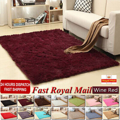 Fluffy Rugs Anti-Skid Shaggy Area Rug Dining Room Carpet Floor Home Bedroom 2019