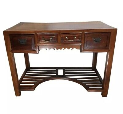 Antique Chinese Beech Wood Writing Desk Or Table  1850-1880's