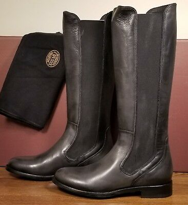 0be3e1dce4e WOLVERINE 1000 MILE Darcy Gray Leather Elongated Gore Riding Boots Women's  8.5 B