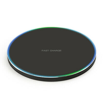 10W Ultra Fast Qi Wireless Charger Metal Pad Mat iPhone X XR Samsung Android