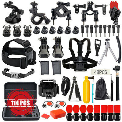 114PCS For GoPro Hero 7 6 5 Accessories Kit Action Camera Mount Accessory Bundle