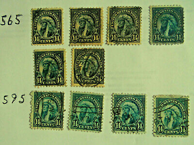 USA Postage Stamps Lot Used #565 & #695 American Indian 14 Cents 10 Pieces