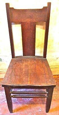 Stickley Style Schmitt & Henry Mfg Co Mission Dark Oak 6 Chairs ca.1910 Dining