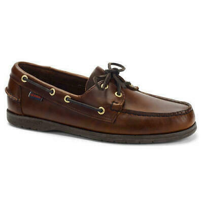 Sebago Endeavour Docksides Mens Brown Waxed Leather Boat Deck Shoes UK Size 6-12