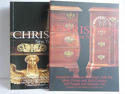 Christie's New York 2002 & 2004 Auction Catalogues Furniture Silver Art set of 2