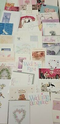 WHOLESALE joblot 50 assorted  wedding day/acceptance/regret greetings cards