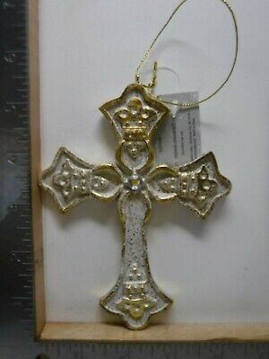 HOBBY LOBBY RESIN TURQUOISE WESTERN CROSS CHRISTMAS ORNAMENT NEW A16523