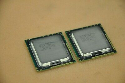 1 Matched Pair (2 CPUs) Intel 6-Core (HEX) Xeon CPU X5680 3.33GHZ/12M/6.40 SLBV5