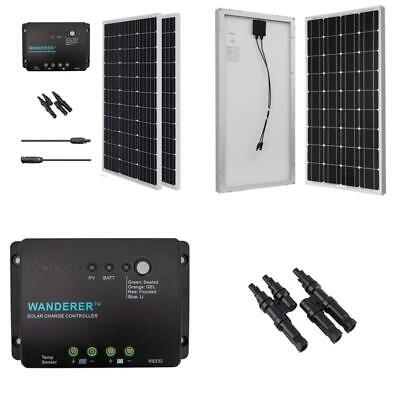 RENOGY 200W 200 Watt Solar Panel 30A Controller Bundle Kit