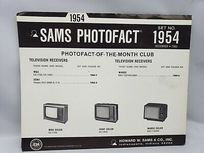Sams Photofact Set Number 1954 December 1980