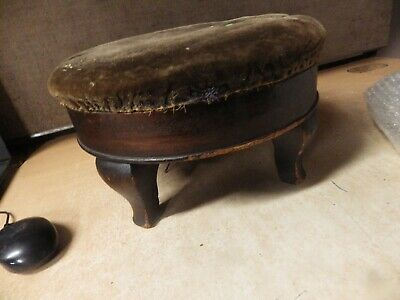 Miraculous Antique Victorian Handmade Straw Filled Foot Stool Round Gamerscity Chair Design For Home Gamerscityorg