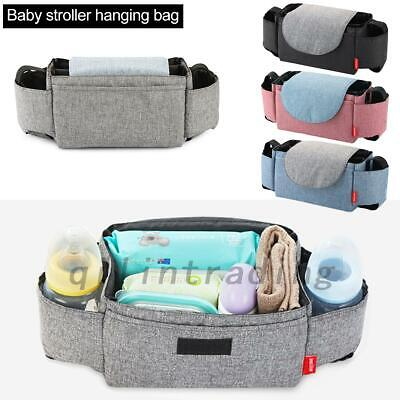 Baby Storage Bottle Holder Buggy Pram Pushchair Organiser Stroller Cup Mummy Ba