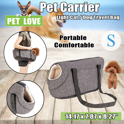 Gray Small Pet Carrier Purse Dog Cat Travel Bag Puppy Outdoor Handbag Tote