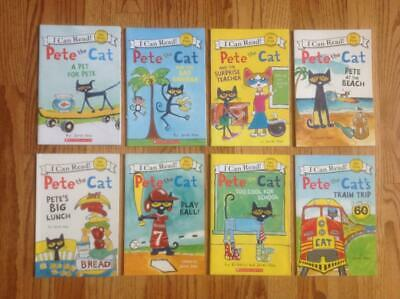 Lot 8 PETE THE CAT My First I Can Read Books READERS Beach TRAIN & More! VGC