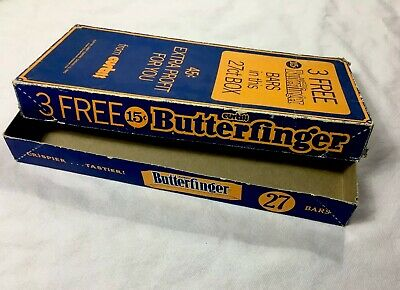 VINTAGE CURTISS BUTTERFINGER ADVERTISING BOX 15 cents Candy Hershey Chocolate