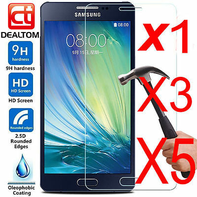 5 X 9H+ Tempered Glass Screen Protector For Samsung Galaxy A3 A5 A7 2016 / 2017.