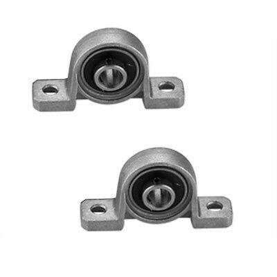 2x Flange Pillow Block Bearing Shaft Support Rolled Ball Screw Mounted