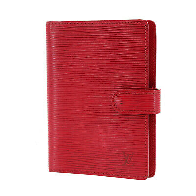 LOUIS VUITTON Agenda PM Day Planner Cover Red Epi R20057 Vintage Auth #Z730 W