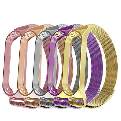 For Xiaomi Mi Band 3 Smart Band Watch Bracelet Wristband Stainless Steel Strap
