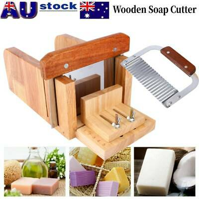 Handmade Soap Making Tools Wood Loaf Cutter Stainless Steel Wavy Cutting Kit