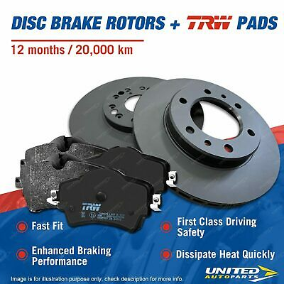 Front RDA Slotted Brake Rotors EBC Ultimax Pads For BMW 3 Series E46 325I CI