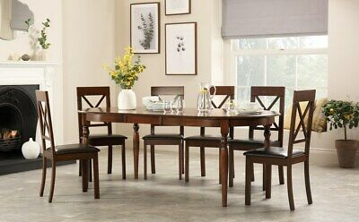 Prime New Whalen Furnishings Valaria Dark Wood 7 Piece Table Beatyapartments Chair Design Images Beatyapartmentscom