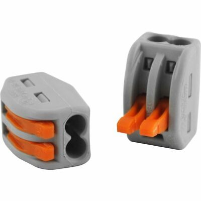 222-412 28Awg 32A 2Pole Terminal Block Grey Wago Orange Lever Nuts