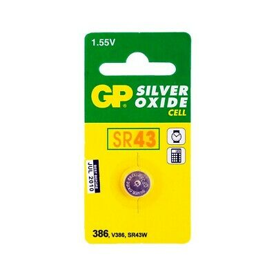 GP86B1 Sr43 Button Cell Silver Oxide 186 Gp Pk1 (� x H) 11.6 x 4.2 mm