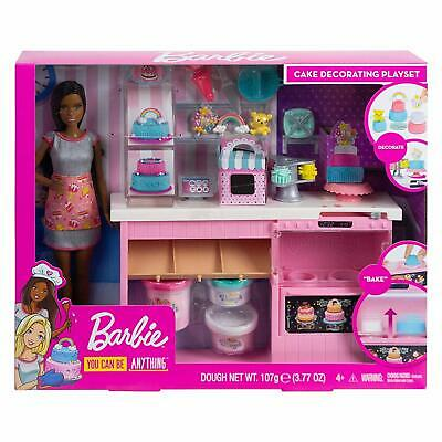 Barbie Cake Decorating Playset With Blonde Doll Baking Counter Toy Icing Pieces