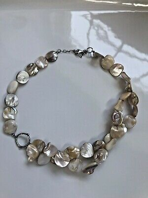 Silpada Sterling Silver Iridescent Abalone Mother Of Pearl Necklace N1823