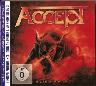 2 DISC  Accept - Blind Rage ( AUDIO CD + DVD PAL )