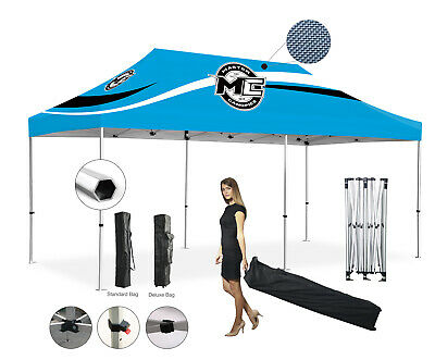 Heavy Duty Hex 10x20' Pop Up Canopy   Racing Shade Canopies   Tent Event Outdoor