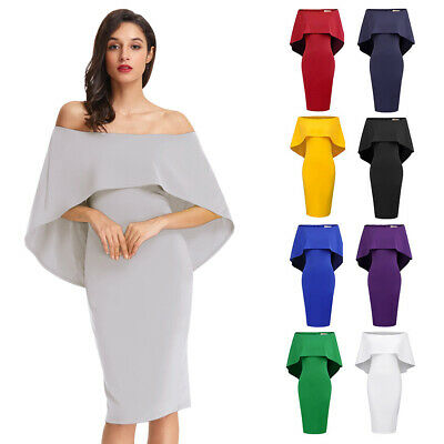 Summer Womens Sexy Off Shoulder Bodycon Cocktail Party Evening Causal Dress