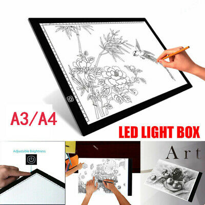 A3 A4 LED Stencil Light Box Artist Tracing Drawing Copy Board Plate Gift USB