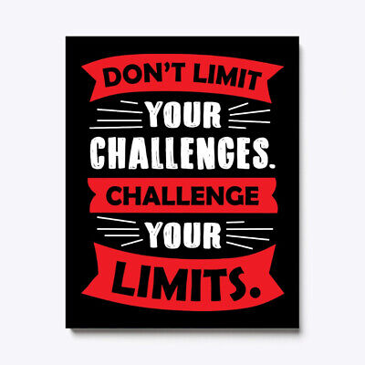 Motivational Dont Limit Your Challenges Canvas Print