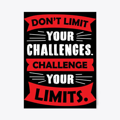 "Motivational Dont Limit Your Challenges Gift Poster - 18""x24"""