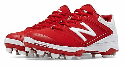 New Balance Low-Cut 4040v1 TPU Softball Cleat Womens Shoes Red with White