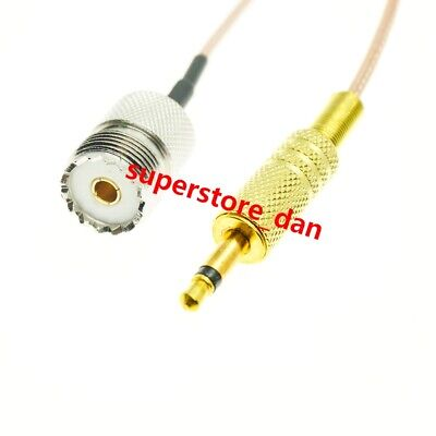 "UHF SO239 Female to 3.5mm 1/8"" TS Male 50Ohm RG316 Coax Jumper RF Cable  CCTV"