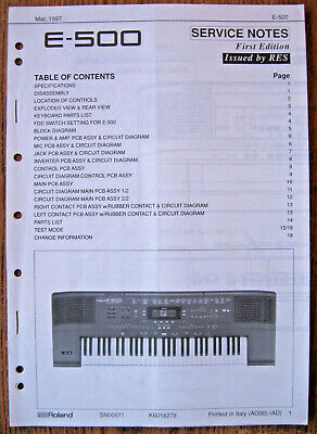 ROLAND JUNO-D REPAIR / Service MANUAL -Book only - $14 99