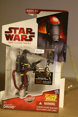 Star Wars The Clone Wars Firefighter Droid CW47 Rare Action Figure Sealed