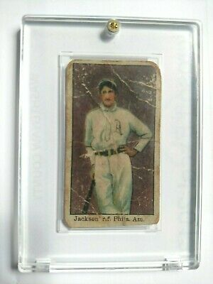 1909 American Carmel Shoeless Joe Jackson Rookie Baseball Card Ungraded