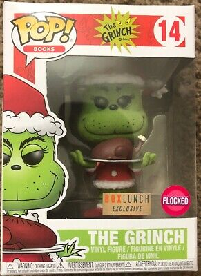 Funko Pop! The Grinch Flocked (W/Turkey) #14 Box Lunch Exclusive New