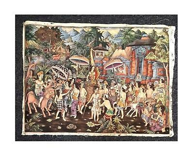 Large Balinese Painting of Wedding