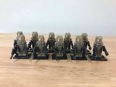 10 Unbranded Figures which fit lego Studs Macedonian Spearmen Soldiers Greek