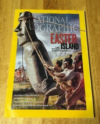 National Geographic Magazine Issue July 2012 Easter Island Volume 222 No 1