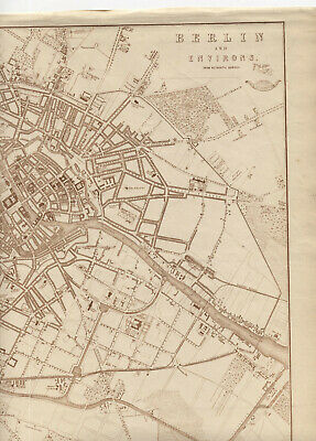 Berlin Map 1863 City Map Plan Germany Antique Prussia Europe King Wilhelm I