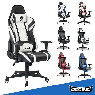 Game Racing Chair Office E-sports Chair Adjustable Swivel Computer Desk Chair